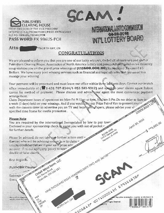 Publishers Clearing House Scam Letter Baytoday Ca