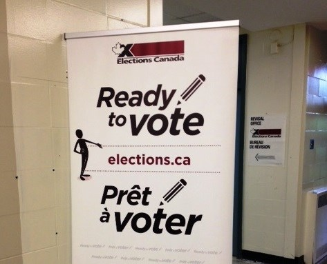 voting elections canada sign