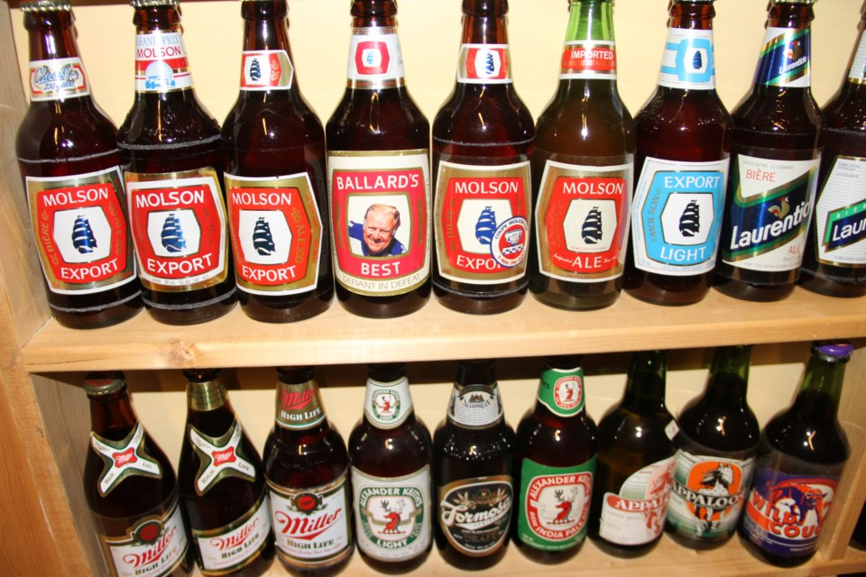 north bay man has a canadian beer bottle collection like no other