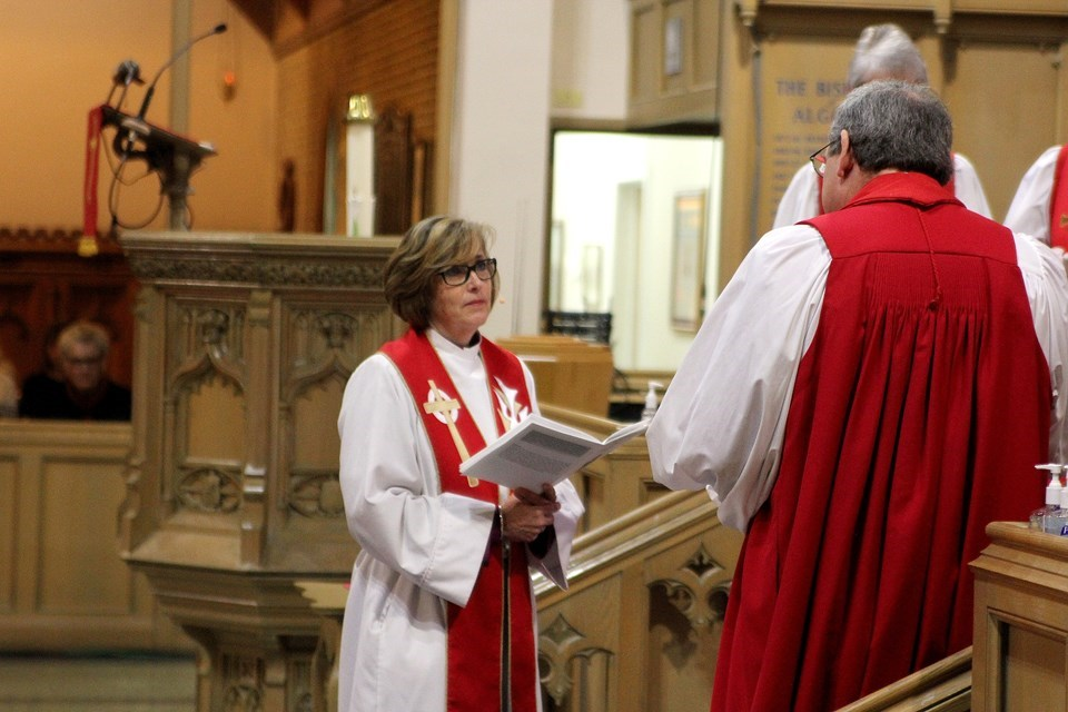 Anne Germond was installed on Saturday, February 11 as Algoma's first female Anglican bishop. Photo by David Helwig/SooToday