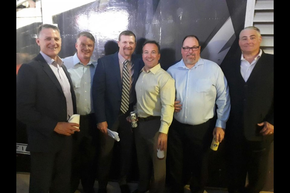The North Bay boys, from left, Cory Keenan, Dan Howe, Mike O'Shea, Jamie Hartnett, Rich Ladouceur, and Rob McCombie. Photo by Ken Pagan.