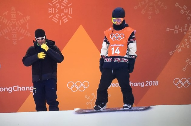 Red Gerard had awesome reaction to his gold medal score