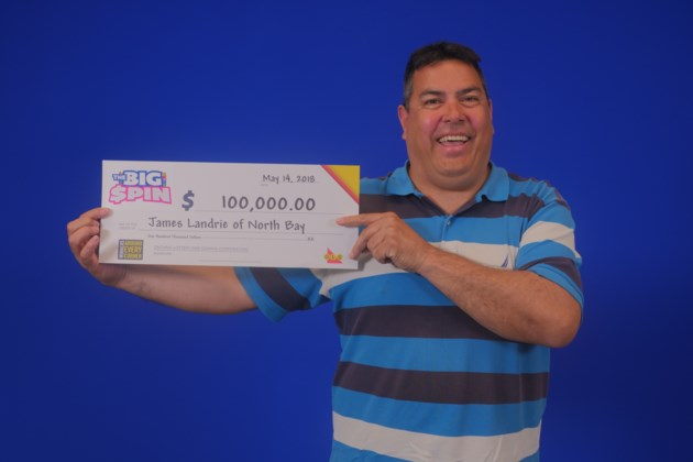 The Big Spin $100,000 James Landrie of North Bay