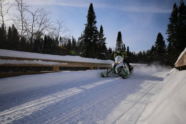 North Bay snowmobile club sled pic