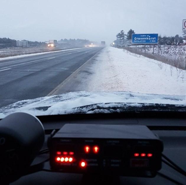 20171207 highway 11 gravenhurst snowy opp