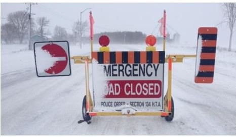20190223 road closed winter blizzard opp