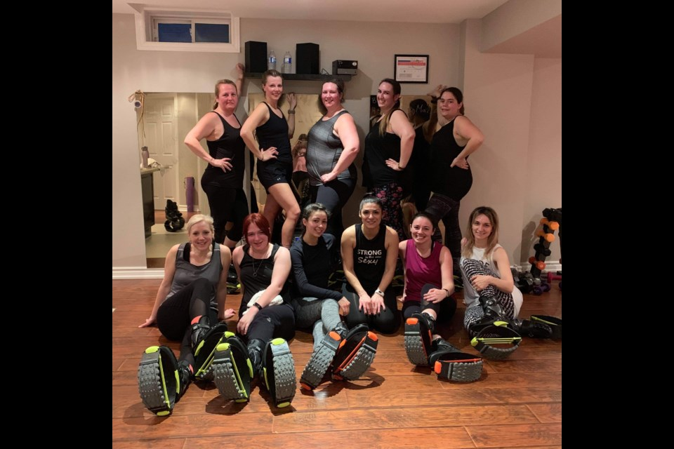 Kangaroos in training at a a Kangoo class. Submitted photo