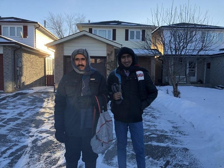Irshad Ali, left, and Basharat Mahmood no longer have to ride five kilometres by bike in the snow to get to work. Submitted photo