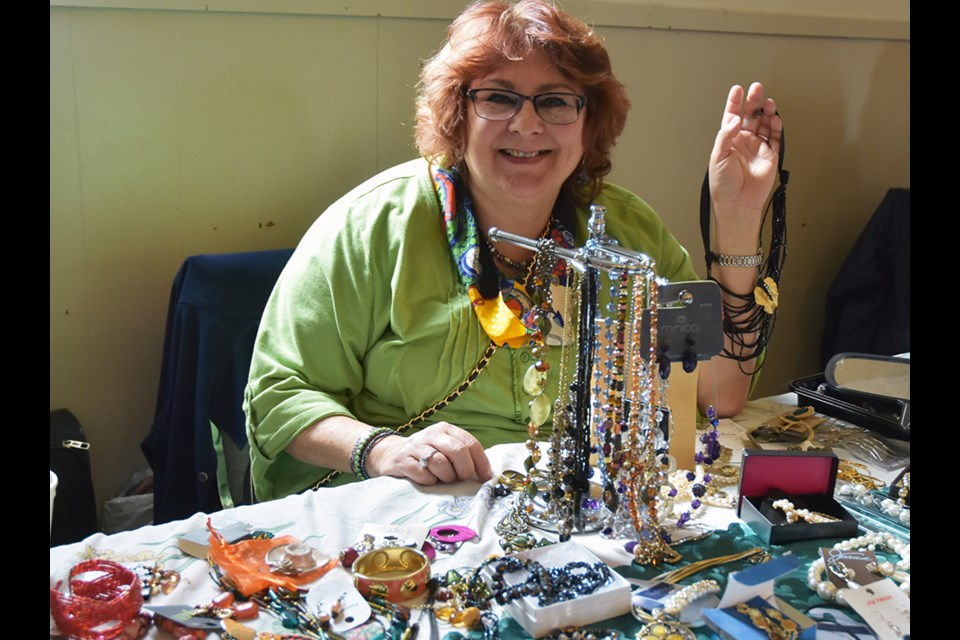 Kathy Wilkinson, of Kathy's Costume Jewellery. Miriam King/Bradford Today