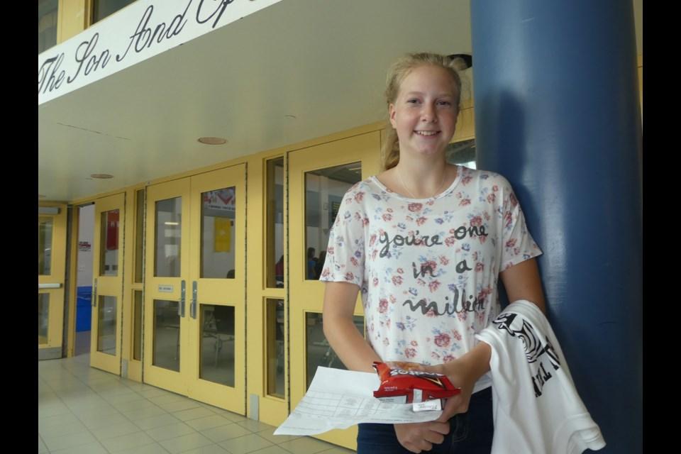 Karissa Beaudoin is a new Grade 9 student at Holy Trinity Catholic High School. Jenni Dunning/BradfordToday