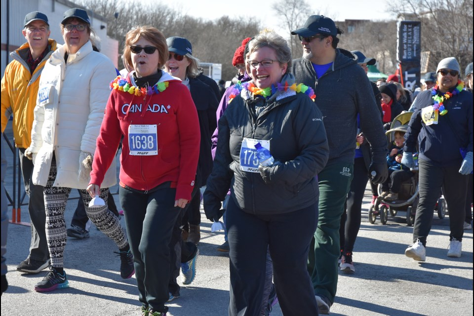Bradford residents participated in this year's Run or Walk for Southlake Regional Health Centre. Miriam King/Bradford Today