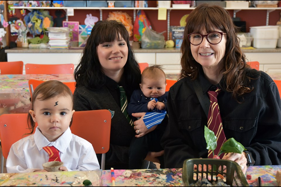 The Hallarn/Marcoccia family dressed up for the Harry Potter Party at the library. Miriam King/Bradford Today
