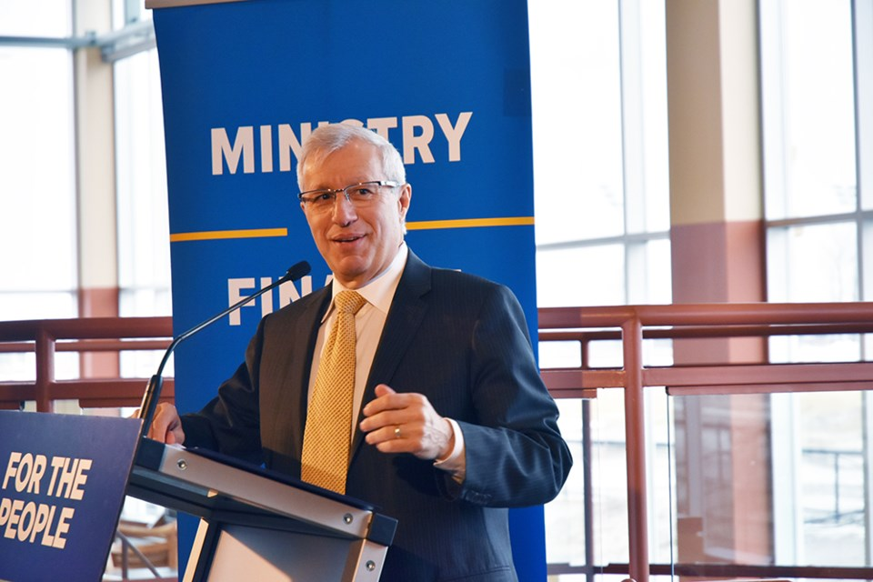 Minister Vic Fedeli praised new long-term financing for horse-racing and horse breeding sectors. Miriam King/Bradford Today