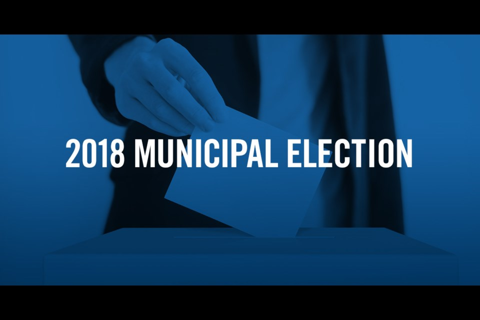 Election Day is Oct. 22 in this year's municipal election.