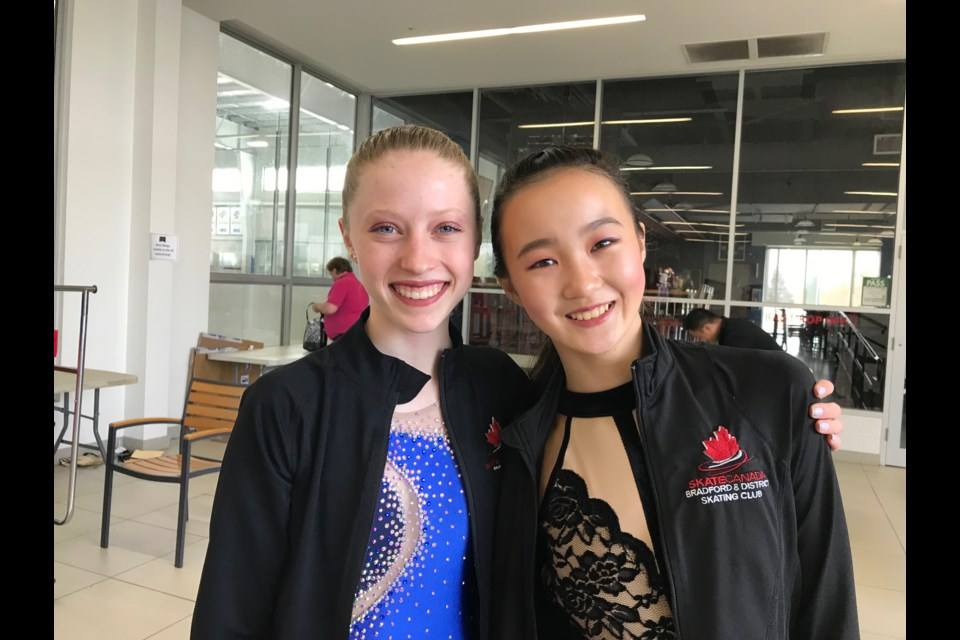 Cristina Lyons and Sarah Bi from Bradford Skating Club. Submitted Photo.