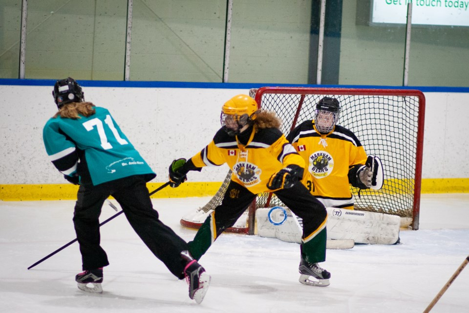 Newmarket Rays under-16 team in action. Submitted photo