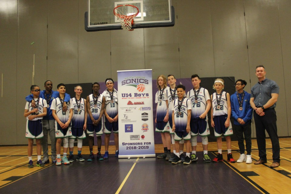 The under-14 South Simcoe Sonics won silver at the Ontario Cup at the end of April. Submitted photo/Becky Fitch