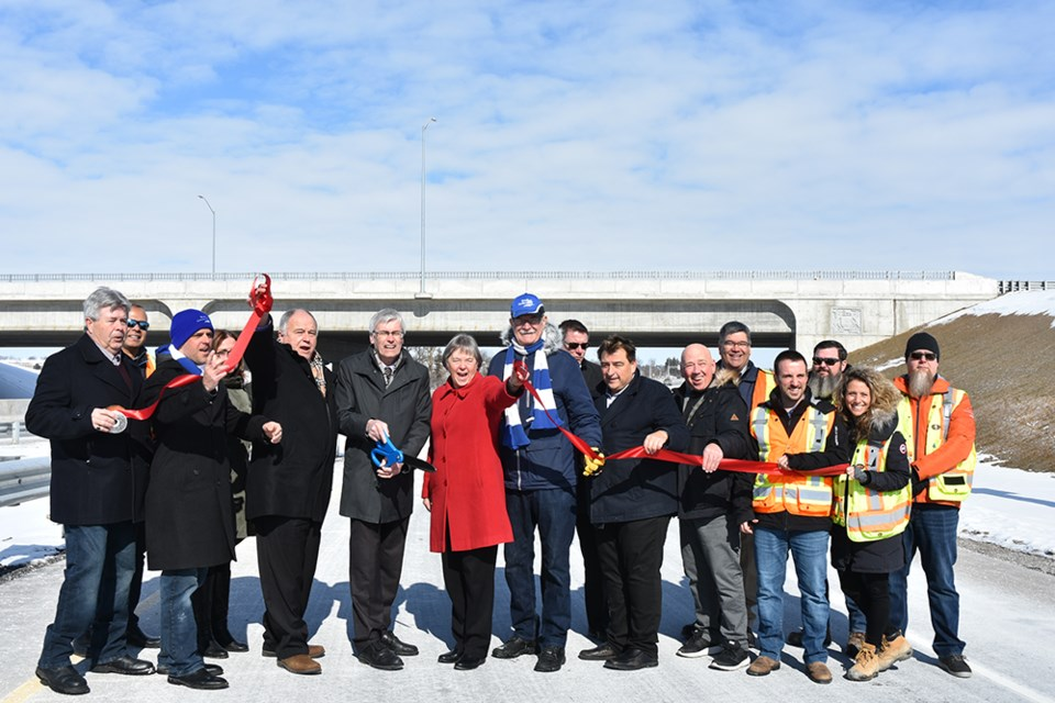 Mayor Rob Keffer and members of Council were joined by MP Deb Schulte (King-Vaughan), Simcoe County Warden George Cornell and Town staff, at the ribbon cutting. Miriam King/Bradford Today