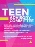 Teen Advisory Committee Poster