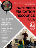Northern Education Fair community poster - July 2019