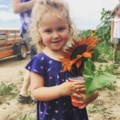 Little girl sunflower
