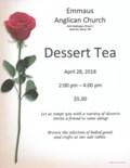 Dessert Tea flyer