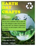 Earth Day Craft Time Clean up