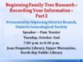 Beginning Family Tree Research Part 2