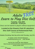 Beginners Disc Golf Lessons
