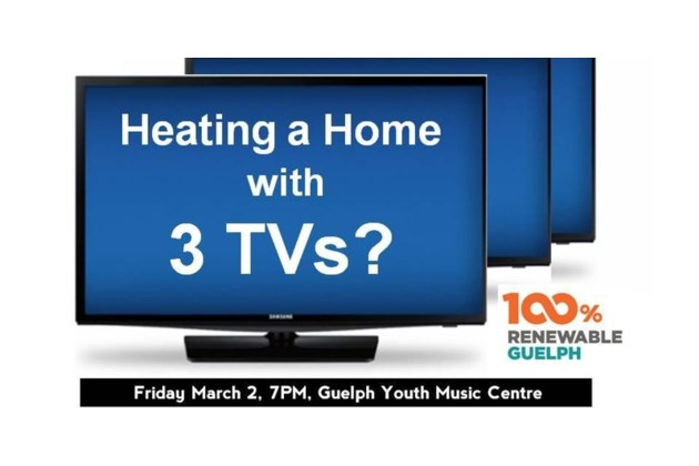 Heating a home with three tVs