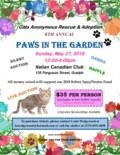 2018 Paws in the Garden Event Flyer