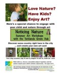 Noticing Nature workshop poster