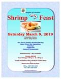 2019 SHRIMP FEAST march 9