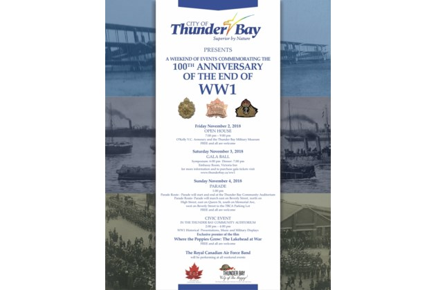 WW1 Commemoration Event Poster new route
