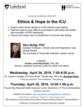 Poster Apr 24-25 2019 - Ethics and Hope in the ICU