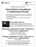 Poster Sept 26 & 27, 2018 - Clinical Ethics Consultations in a Multicultural Society