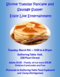 2019 Shrove Tuesday Pancake and sausage supper