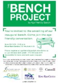 The Bench Project Launch by Age Friendly Guelph