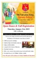 Nursery School Open House Flyer for the Tribune