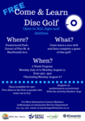 Come and Try Disc Golf - Tentative