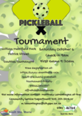 Pickle Ball Tournament - Doubles Poster