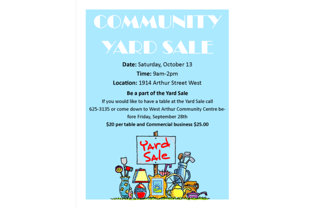 yard sale WACC 2