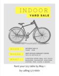 indoor yard sale May 2019