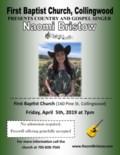 Naomi Bristow Poster- April 5th