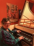 Elizabeth playing Consortium's magnificent new French double harpsichord 305 KB-001