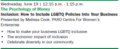 How to Include LGBTQ Policies Into Your Business