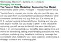 The Power of Niche Marketing - Segmenting Your Market