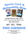 Feb 24 - Sports Card poster