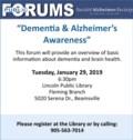 What is Dementia Jan 29 2019