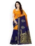 11512997037580-Ishin-Bhagalpuri-Art-Silk-Orange--Blue-Printed-Womens-SareeSari-3591512997037498-1